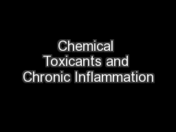 Chemical Toxicants and Chronic Inflammation