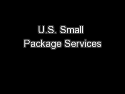 U.S. Small Package Services