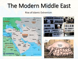 The Modern Middle East Rise of Islamic Extremism