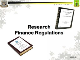 Research  Research  Finance Regulations