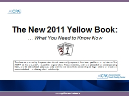 The New 2011 Yellow Book: