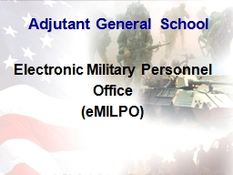1 Electronic Military Personnel Office