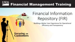 Financial Information Repository (FIR)