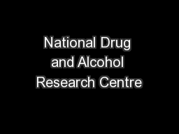 National Drug and Alcohol Research Centre