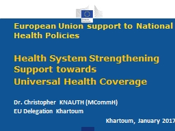 European Union  support to