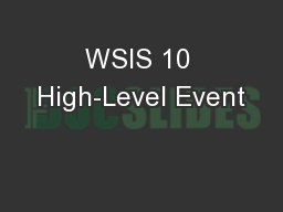 WSIS 10 High-Level Event