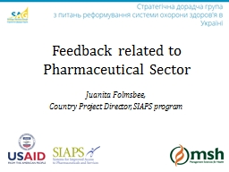 Juanita  Folmsbee , Country Project Director, SIAPS program