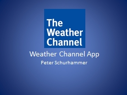 Weather Channel App Peter