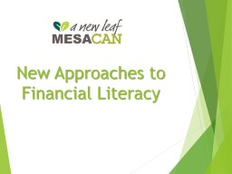 New Approaches to Financial Literacy