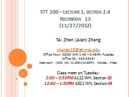 STT 200 – Lecture 1, section 2,4