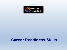 Career Readiness Skills Resume Tips