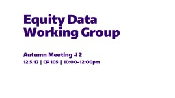 Equity Data Working Group