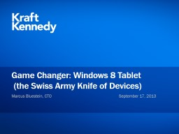 Game  Changer: Windows 8