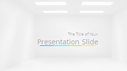 The Title of Your  Presentation Slide