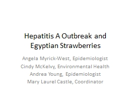 Hepatitis A Outbreak and Egyptian Strawberries