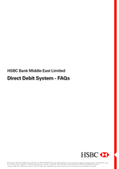 HSBC Bank Middle East Limited Direct Debit System  FAQ PowerPoint PPT Presentation
