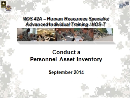Conduct a  Personnel Asset Inventory