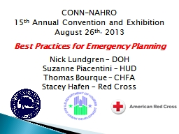 CONN-NAHRO  15 th  Annual Convention and Exhibition