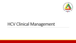 HCV Clinical Management TRAINER(S)