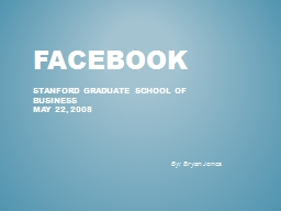 Facebook  Stanford graduate school of business
