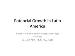 Potential Growth in Latin America