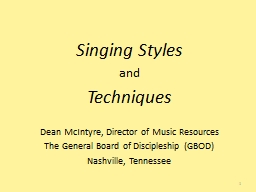 Singing Styles and Techniques