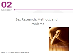 Sex Research : Methods and Problems