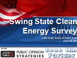 Swing State Clean Energy Survey