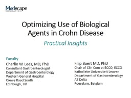 Optimizing Use of Biological Agents in Crohn Disease