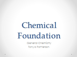 Chemical Foundation General Chemistry