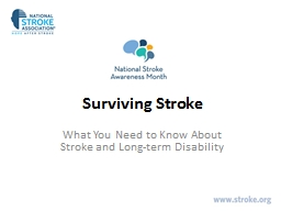 Surviving Stroke What You Need to Know About Stroke and Long-term Disability