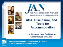 ADA, Disclosure, and Tools for Accommodation