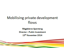 Mobilising private development flows