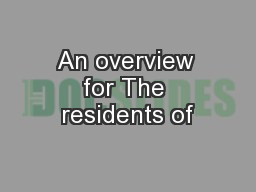 An overview for The residents of