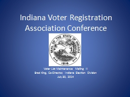 Indiana Voter Registration Association Conference
