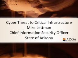 Cyber Threat to Critical Infrastructure
