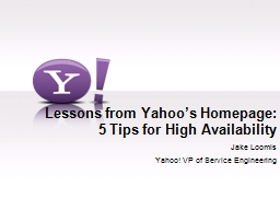 Lessons from Yahoo�s Homepage: