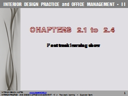 INTERIOR DESIGN PRACTICE and OFFICE MANAGEMENT– -