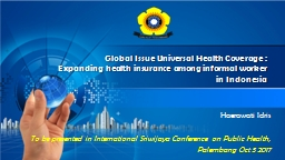 Global Issue Universal Health Coverage :