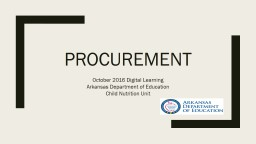 procurement October 2016 Digital Learning