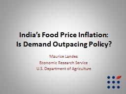 India�s Food Price Inflation: