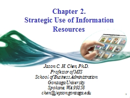 1 Chapter 2.  Strategic Use of Information Resources