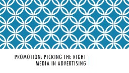 Promotion: picking the right media in advertising