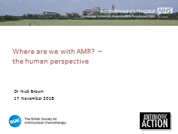 Where are we with AMR? – the human perspective