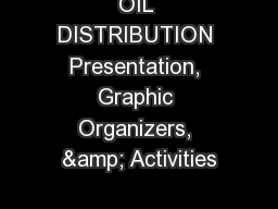 OIL DISTRIBUTION Presentation, Graphic Organizers, & Activities