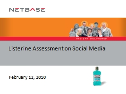 Listerine Assessment on Social Media