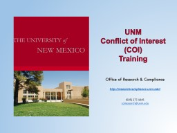 UNM  Conflict of Interest (COI)