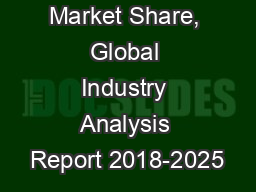 VCSEL Market Share, Global Industry Analysis Report 2018-2025