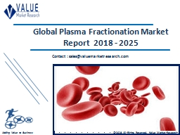 Plasma Fractionation Market Share, Global Industry Analysis Report 2018-2025