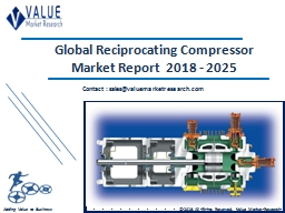 Reciprocating Compressor Market Share, Global Industry Analysis Report 2018-2025